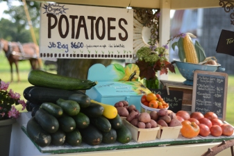 Our produce stand...